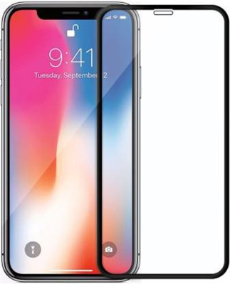ajd Edge To Edge Tempered Glass for Apple iPhone X(Pack of 1)