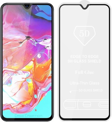 Case Creation Edge To Edge Tempered Glass for Samsung Galaxy A70(Pack of 1)