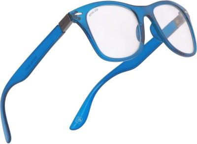 Royal Son Retro Square Sunglasses(Clear, Silver)