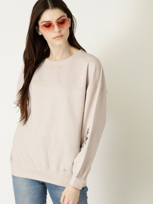 United Colors of Benetton Full Sleeve Solid Women Sweatshirt United Colors of Benetton Women's Sweatshirts
