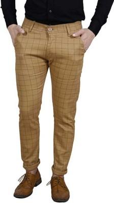 FUBAR Slim Fit Men Brown Trousers