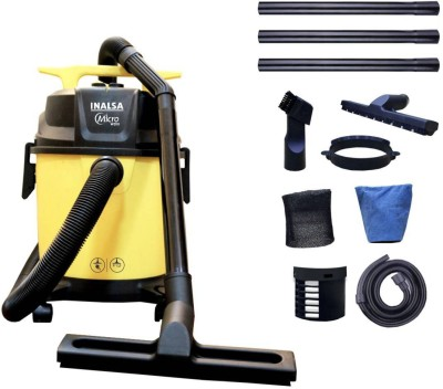 Inalsa Micro WD10 Wet & Dry Vacuum Cleaner(Black, Yellow)