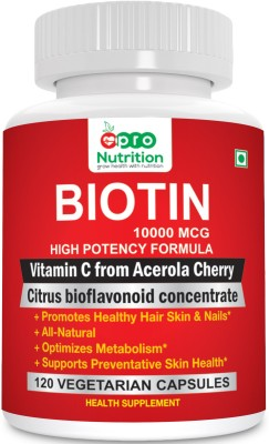 ProNutrition Biotin 10000 MCG High Potency Formula with Vitamin(120 No)