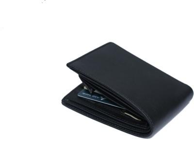 Wallet Bazaar Boys Black Artificial Leather Wallet 10 Card Slots