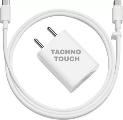 TACHNO TOUCH HIGH SPEED WALL CHARGER ( MODEL NO. 9999QQ) 2.4 A Mobile Charger with Detachable Cable(White)