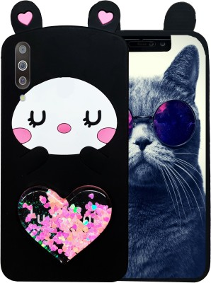Cafune Back Cover for SAMSUNG GALAXY A50(CUTE HEART CAT, Grip Case)