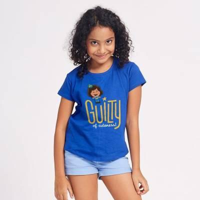 BonOrganik Girls Blue T Shirt
