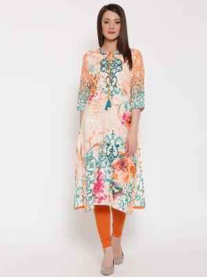 Shree Women Embellished Straight Kurta Multicolor