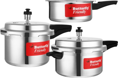 Butterfly Friendly 2 L, 3 L, 5 L Pressure Cooker(Aluminium)