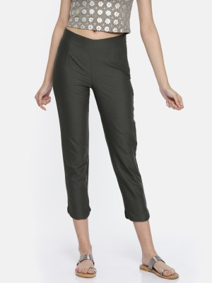 Aurelia Regular Fit Women Grey Trousers