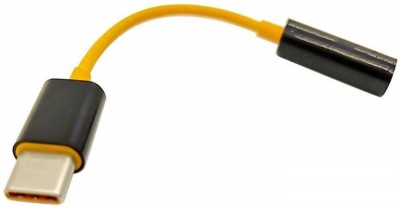 NICK JONES Yellow TYPE C TO 3.5 MM HEADPHONE JACK CABLE USB Adapter Phone Converter Android, iOS