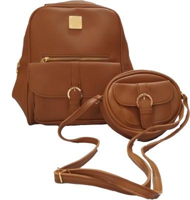 Infinitecreations Brown Sling Bag