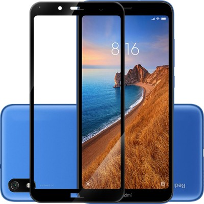 Hupshy Edge To Edge Tempered Glass for Mi Redmi 7A(Pack of 1)