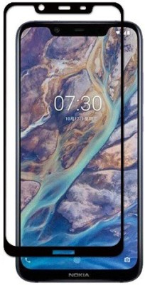 S-Softline Edge To Edge Tempered Glass for Nokia 7.1 Plus(Pack of 1)
