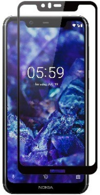 S-Softline Edge To Edge Tempered Glass for Nokia 5.1 Plus(Pack of 1)