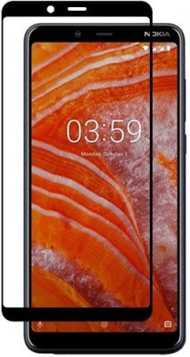 S-Softline Edge To Edge Tempered Glass for Nokia 3.1 Plus(Pack of 1)