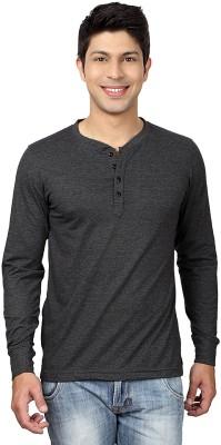 Top Notch Solid Men Henley Grey T-Shirt