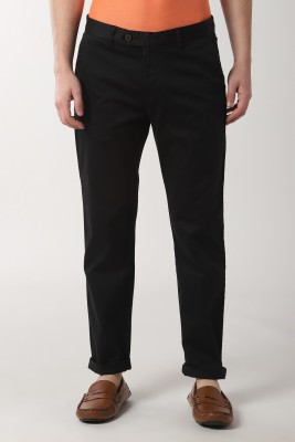 Peter England Slim Fit Men Black Trousers at flipkart