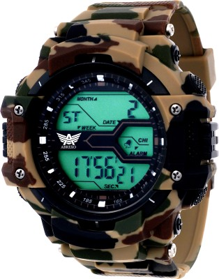 Abrexo Abx1016-Gents Solitary Affrican Army Chronograph Digital Watch Digital Watch  - For Men