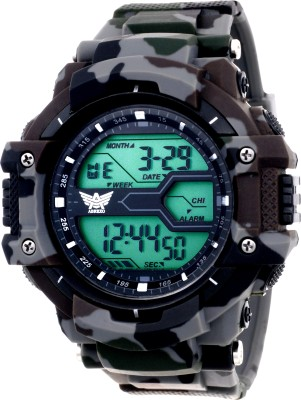Abrexo Abx1015-Gents Solitary Affrican Army Pattern Chronograph Digital Watch Analog-Digital Watch  - For Men