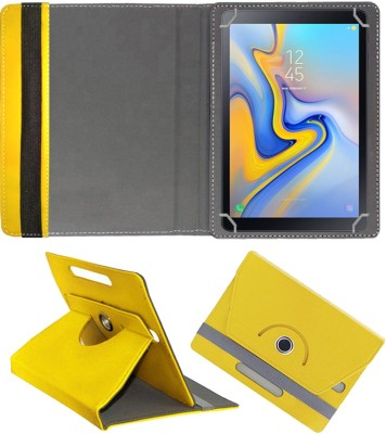 """Fastway Flip Cover for Samsung Galaxy Tab A 10.5"""" 4g(Yellow, Cases with Holder)"""