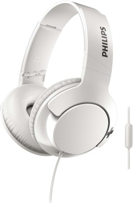 Philips SHL3175WT Wired Headset(White, Over the Ear)