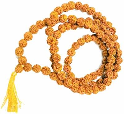 SHIV MART 5 mukhi rudraksh mala 108 Beads Wood Chain