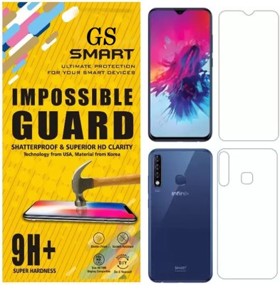 GS SMART Front and Back Tempered Glass for Infinix Smart 3 Plus {Flexible}(Pack of 2)