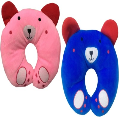 Chinmay Kids U Shape Baby pink blue Pillow pink blue