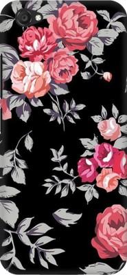 COBIERTAS Back Cover for vivo V5 Plus(Multicolor Black Floral Pink Design Designer Print Printed Design, Hard Case)