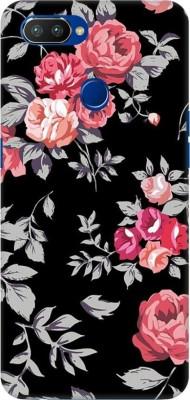COBIERTAS Back Cover for Realme 2 Pro(Multicolor Black Floral Pink Design Designer Print Printed Design, Hard Case)