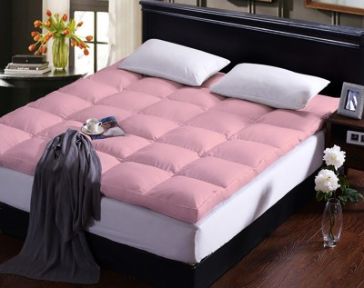AVI Mattress Topper Split Size Mattress Protector(Pink)
