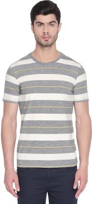 Urban Ranger by Pantaloons Striped Men Round Neck Blue T-Shirt