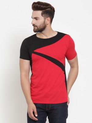 COBIO MAN Graphic Print Men Round Neck Red T-Shirt