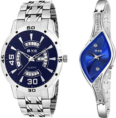 AXE Style specially Design 2 C025 Blue Watches For Beautiful Couple Analog Watch  - For Men & Women