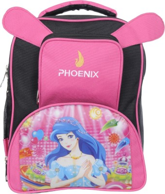 Phoenix Digital Printed School Bag for Boys & Girls for Nursery, Junior, Preprimary - Pink Waterproof School Bag(Pink, 16 inch)