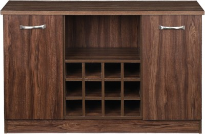 Woodness Engineered Wood Bar Cabinet(Finish Color - Brown)