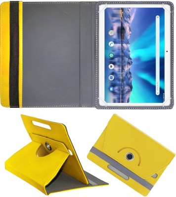 Fastway Flip Cover for Lava Magnum-XL 10.1 inch 4G Tablet(Yellow, Cases with Holder)