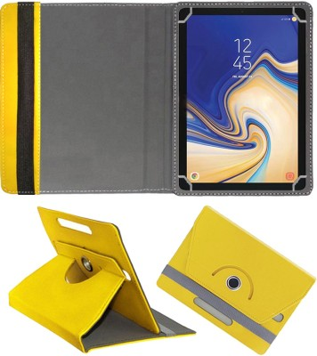"""Fastway Flip Cover for Samsung Galaxy Tab S4 10.5""""(Yellow, Cases with Holder)"""