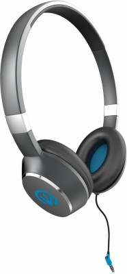 iFrogz Luxe Air-Headphones with Mic- Blue Wired Headset with Mic(Blue, Over the Ear)