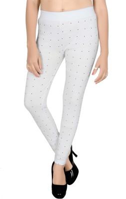 SWANGIYA Western Wear Legging(White, Printed)