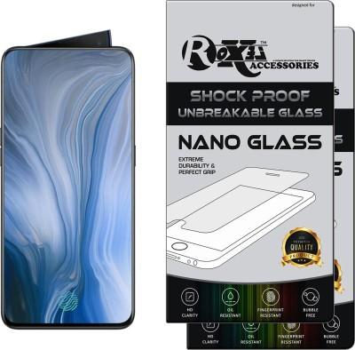 Roxel Nano Glass for OPPO Reno 10x Zoom (Jet Black, 256 GB)(Pack of 2)