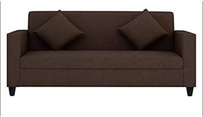 Mofi sofas Fabric 3 Seater Sofa(Finish Color - Brown)