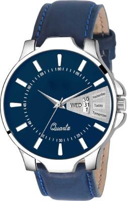 Heeva HV-LS2827 DayAndDate Functioning All Blue Leather Strap Quartz Mechanism Analog Watch - For Men Analog Watch  - For Men