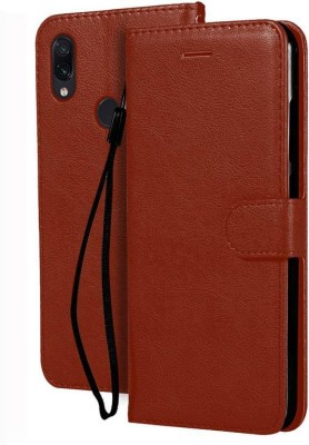 Flipkart SmartBuy Flip Cover for Mi Redmi Note 7, Mi Redmi Note 7 Pro, Mi Redmi Note 7S(Brown, Hard Case)