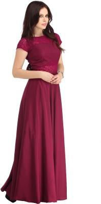 Raas Pret Women Empire Waist Purple, Black Dress