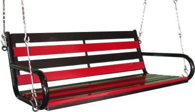 Kaushalendra Hanging Swing Chair 122 cm Iron Large Swing(Black, Red)