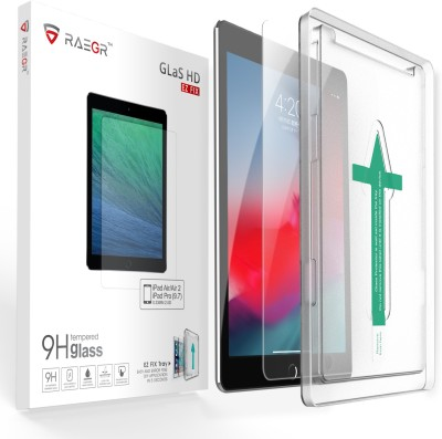 RAEGR Tempered Glass Guard for Apple iPad (2018-2016) / iPad Air / iPad Air 2(Pack of 1)