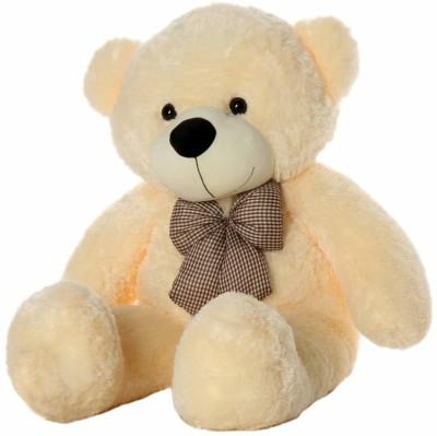 Sanvidecors 3 Feet Huggable Teddy Bear with Neck Bow, Beige   91 cm Cream Sanvidecors Soft Toys