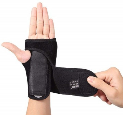 Shoppingdoor Wrist Support Sports Injury Recovery, ProvidesPain Relief Fits Left & Right Hands Wrist Support(Black)